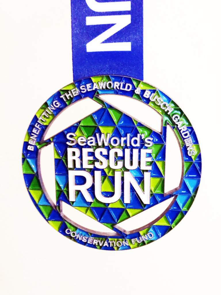 The 2020 Inaugural Sea World Rescue Run Race Medal