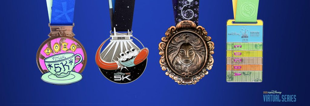 RunDisney Virtual Series Medals for 2020.